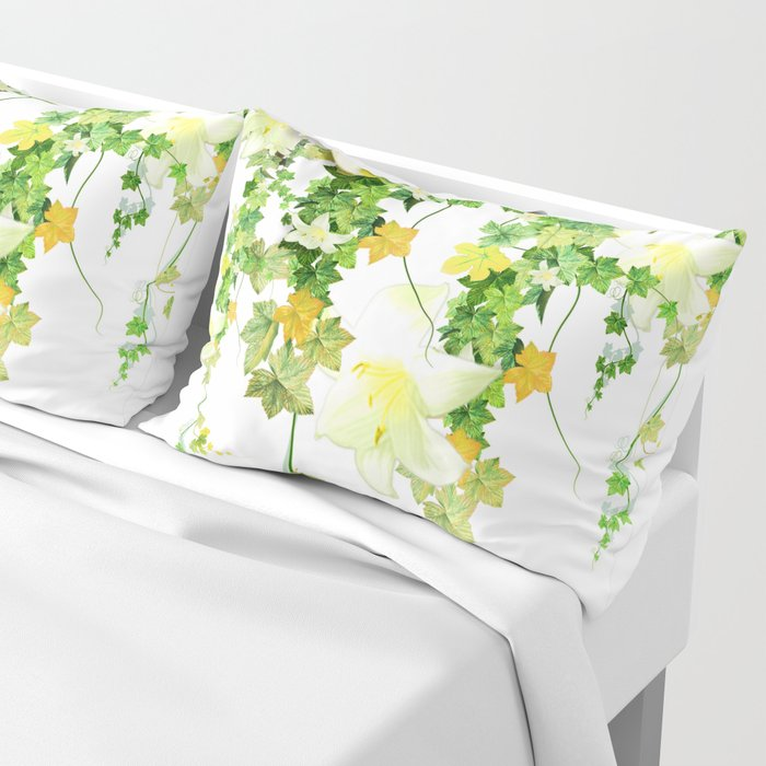 Watercolor Ivy Pillow Sham