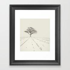 Winter Field Framed Art Print