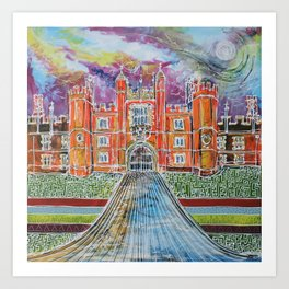 Hampton Court Art Print