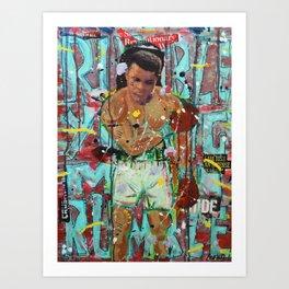 Rumble Young Man Rumble Art Print