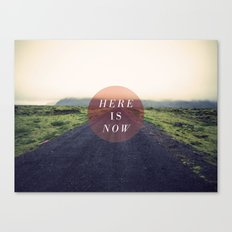 Here Is Now II Canvas Print