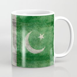 Flag of Pakistan in vintage style Coffee Mug