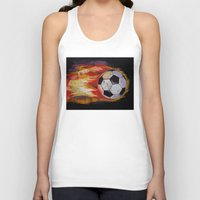 soccer Tank Tops featuring Soccer by Michael Creese