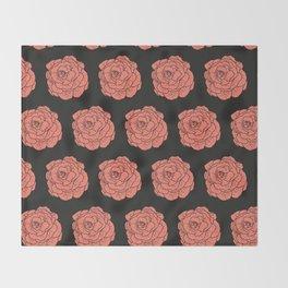 Lettuce Pink Black Throw Blanket