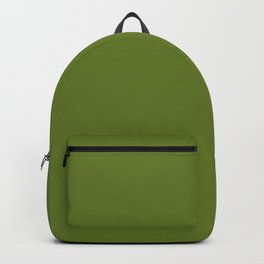 Cheap Solid Fern Green Color Backpack