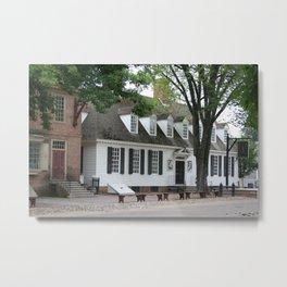 White Clapboard House - Colonial Williamsburg Metal Print