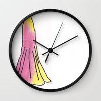 gryffindor Wall Clocks featuring Gryffindor Dress by AlwaysRiverose