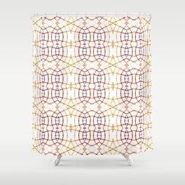 Bright Modern Interlace Print Pattern Shower Curtain