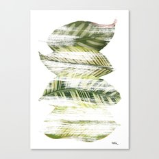 Brushed leaves Canvas Print