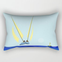 Flying with May towards the West in May - shoes stories Rectangular Pillow