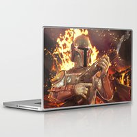 boba fett Laptop & iPad Skins featuring Boba Fett by MATT DEMINO