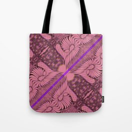 Diagonal Abstract Psychedelic Doodle 2 Tote Bag