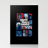 gta Stationery Cards featuring Doctor Who and GTA - Nerd Mix by MarcoMellark