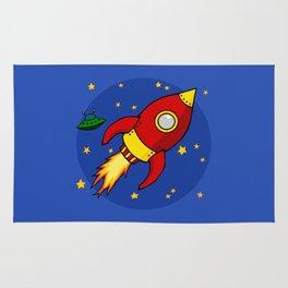 Space Rocket Rug