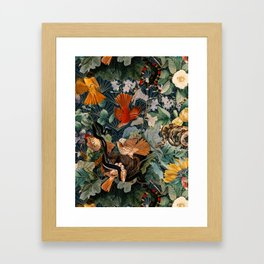 Birds and snakes Framed Art Print