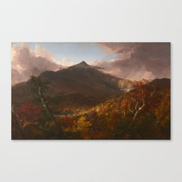 View of Schroon Mountain, Essex County, New York, After a Storm by Thomas Cole Canvas Print