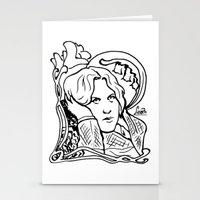 oscar wilde Stationery Cards featuring Oscar Wilde by LiseRichardson
