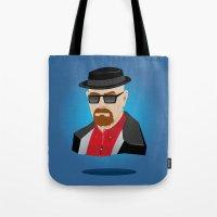 heisenberg Tote Bags featuring Heisenberg by Kody Christian
