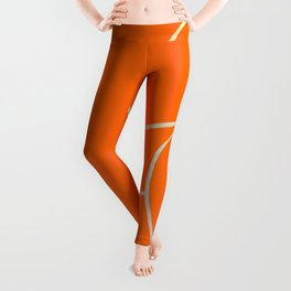 Lined - Orange Leggings