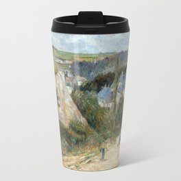 Entrance to the Village of Osny by Paul Gauguin Travel Mug