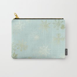 Gold Snowflakes Carry-All Pouch