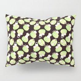Matcha Macarons & Kittens Pillow Sham