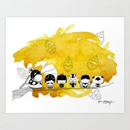 Pamilya ii Art Print