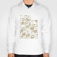 utah Hoodies featuring Utah in Flowers by Ursula Rodgers