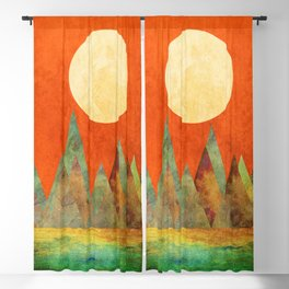 Many Moons Ago, Abstract Landscape Art Blackout Curtain