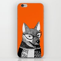 mr fox iPhone & iPod Skins featuring Mr. Fox by yellow pony