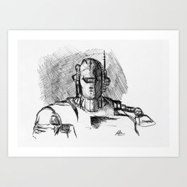 Warbot Sketch #058 Art Print
