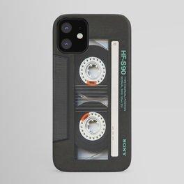 Retro classic vintage Black cassette tape iPhone Case