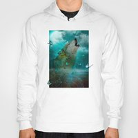 hobbes Hoodies featuring I'll See You In My Dreams (Cry of the Wolf) by soaring anchor designs