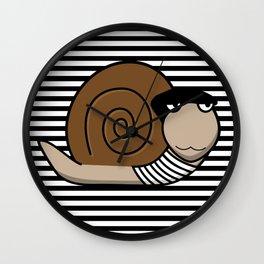 French Snail ~ Escargot Wall Clock