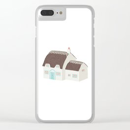 Little Thatched Cottage Clear iPhone Case