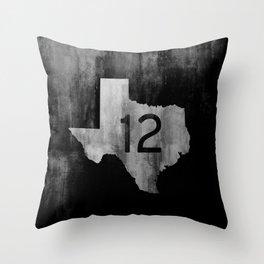 Texas Ranch Road 12 Throw Pillow