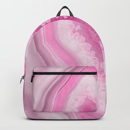 Soft Pink Agate Dream #1 #gem #decor #art #society6 Backpack