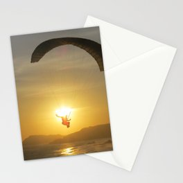 Paragliding at Sunset Stationery Cards