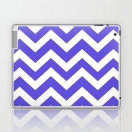 Majorelle blue - blue color - Zigzag Chevron Pattern Laptop & iPad Skin