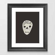COFFEE DEATH Framed Art Print