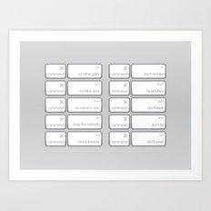 Ten Commands Art Print