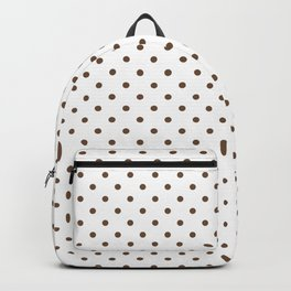 Dots (Coffee/White) Backpack