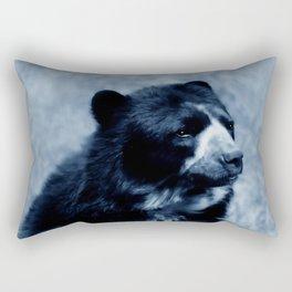 Black bear contemplating life Rectangular Pillow