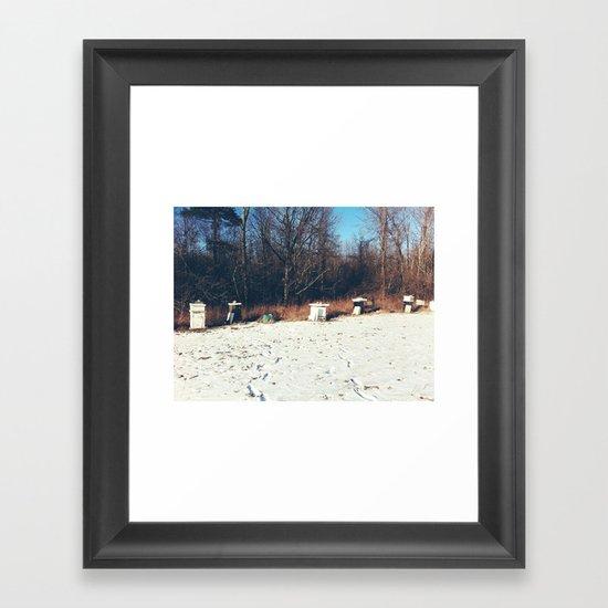Beehives Framed Art Print
