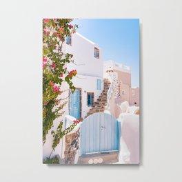 Santorini Greece Aesthetic Photography, Santorini Blue Benjamin Moore Metal Print