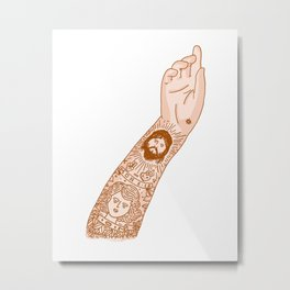 brkly tattoo Metal Print
