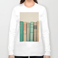 literary Long Sleeve T-shirts featuring Literary Gems I by Laura Ruth