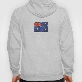 Vintage Aged and Scratched Australian Flag Hoody