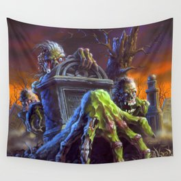 Attack of the Graveyard Ghouls Wall Tapestry