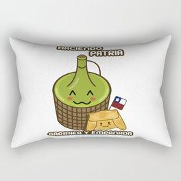 Garrafa y Empanada Rectangular Pillow